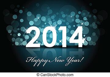 2014, glücklich, -, jahreswechsel