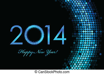 2014, glücklich, neu , hintergrund, jahr