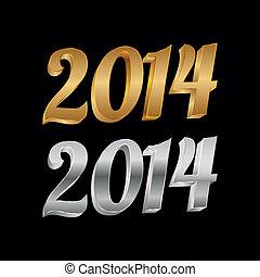 2014, golden-silver