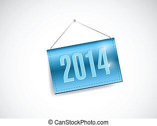2014 hanging banner illustration design
