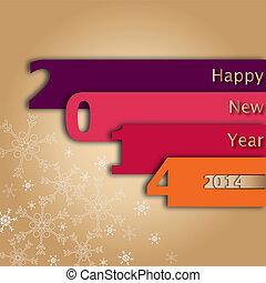 2014 Happy New Year Card