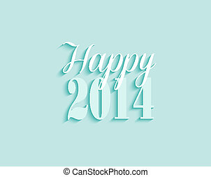 2014 Happy New Year greeting card vector background