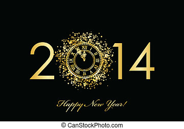 2014 Happy New Year - Vector 2014 Happy New Year background...