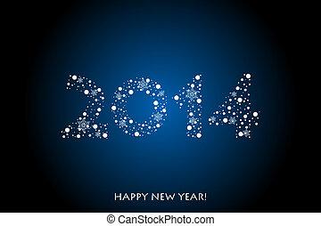 2014, heureux, nouveau, fond, année