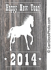 2014 Horse Year - 2014 Wooden Horse Year design....