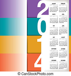 2014 Infographic Style Calendar for Home, Office or Website