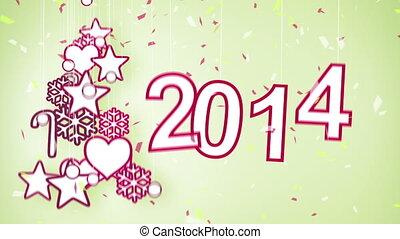 2014, jaar, lus, nieuw, viering