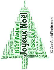 2014, joyeux, etiqueta, nube, noel