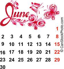 2014, kalender, juni