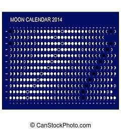 2014, kalender, måne