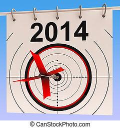 2014, kalender, mittel, planung, jährlich, tagesordnung,...