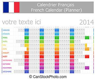 2014, kalender, planer, franzoesisch