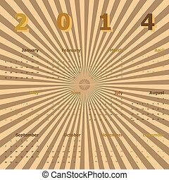 2014, kalender, strahlen, hintergrund