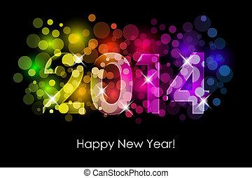 2014, kleurrijke, achtergrond