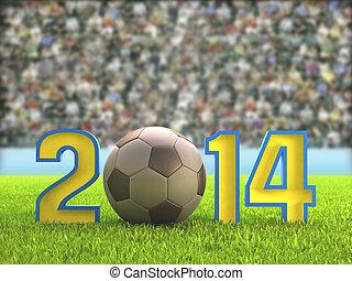 2014, labdarúgás, stadion