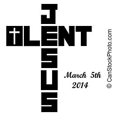 2014 lent cross icon with ash wednesday date