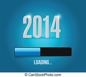 2014 loading year bar illustration