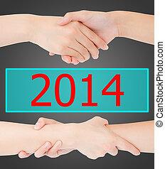 2014, mains, femme, isolé, deux
