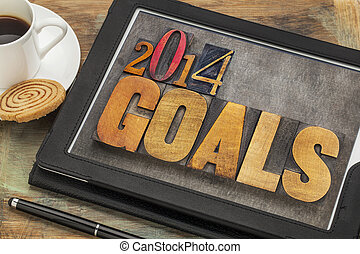 2014, metas, ligado, tablete digital