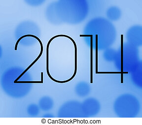 2014 New Year Blue Image
