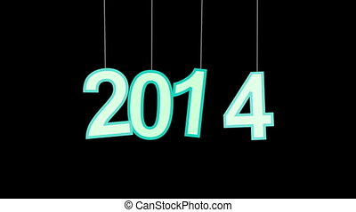 2014 new year celebration with luma matte. Part 2.15-12.15 is loopable