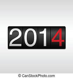 2014 New Year Odometer