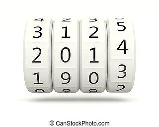 2014 New Year symbol