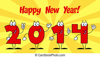 2014 New Year With Background