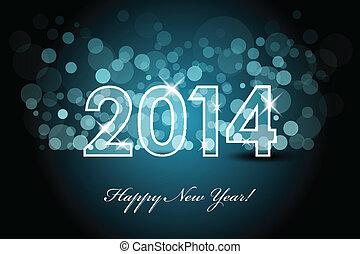 2014, nieuw, -, achtergrond, jaar
