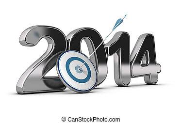 2014, obiettivi, concetto, -, affari
