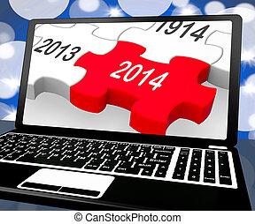 2014 On Laptop Shows Near Future Technology