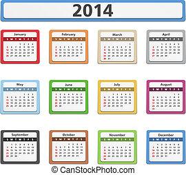 2014 paper calendar