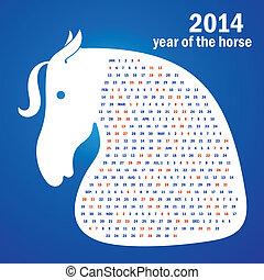 2014, pferd, jahr