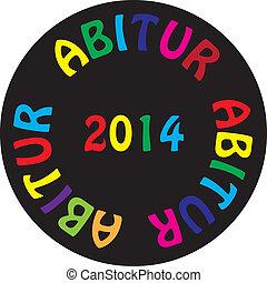 2014, pretas, bacground, coloridos, abitur