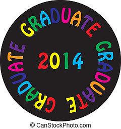 2014, pretas, bacground, coloridos, graduado