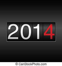 2014, rok, nowy, odometr
