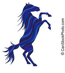 2014, símbolo, -, caballo