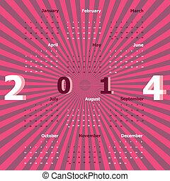 2014, schaffen, strahlen, kalender, hintergrund