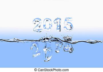 2014, schizzo, fine, anno