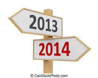 2014, sinal estrada