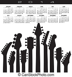2014, skapande, gitarr, kalender