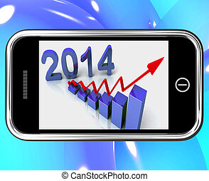 2014 Statistics On Smartphone Showing Future Finances