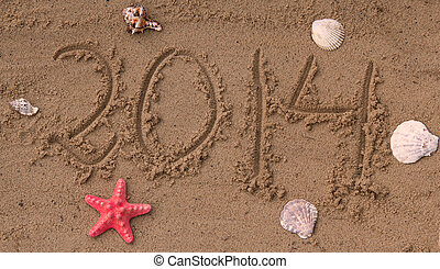 2014, strand, jaarwisseling