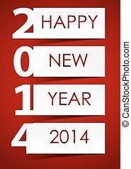 2014, szczęśliwy nowy rok, tło, wektor, ilustracja
