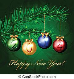 2014 - Vector christmas tree