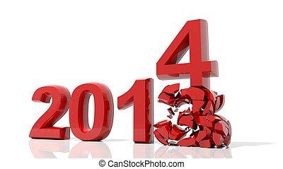 2014, venir, nouvel an