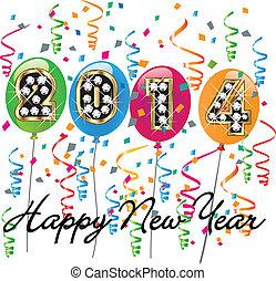 2014, vrolijke , nieuw, achtergrond, jaar
