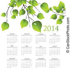 2014 year calendar