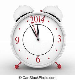 2014 year on alarm clock - 2014 year on alarm clock. 3d...