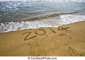 2014 year on beach
